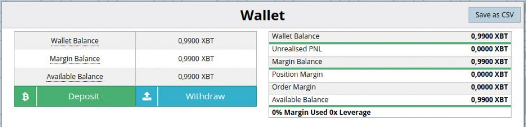 bitmex wallet for deposits and withdrawals